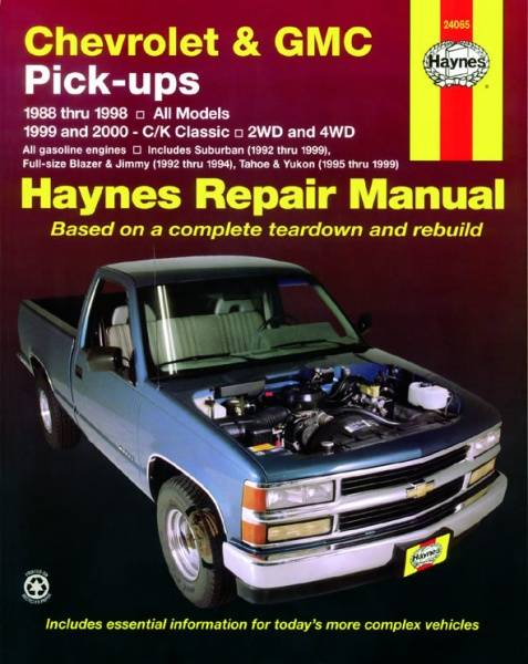 Chevrolet and GMC Pick-ups, 2WD and 4WD (88 - 00) (USA)